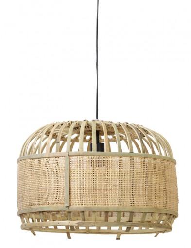 Lámpara colgante de bambú Light & Living Dalika-2931BE