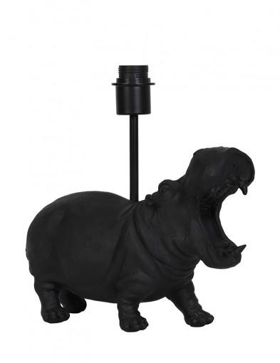 Base negra de hipopótamo Light & Living Hippo-2973ZW