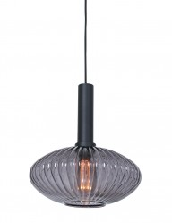 Lámpara de vidrio ahumado con relieve Steinhauer Danske-2986ZW