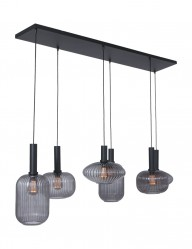 Lámpara de seis luces con cristal ahumado Steinhauer Danske-2987ZW