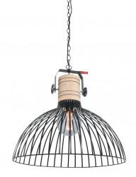 Lámpara industrial con madera Anne Lighting Dunbar-2998ZW