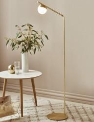Lámpara de pie dorada Nordlux Contina-3013ME