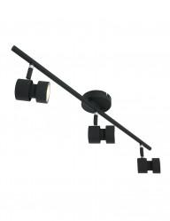 Regleta LED negra con 3 focos Steinhauer Natasja-7903ZW