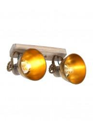 Foco de dos luces bronce Mexlite Gearwood-7969BR