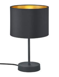 lampara de mesa negra y dorada-3141ZW