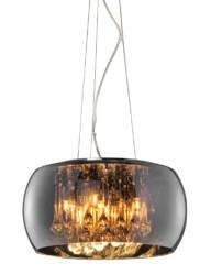 lampara colgante vidrio ahumado cristales-3144CH