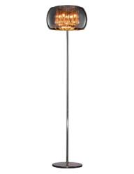 lampara de pie de cristal ahumado-3146CH