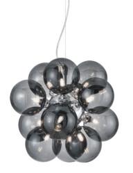 lampara de techo de vidrio ahumado esferas-3149CH