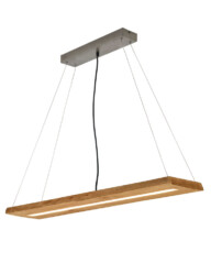 lampara de comedor led de madera-3155BE