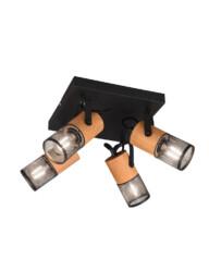 Plafón negro de madera-3164ZW