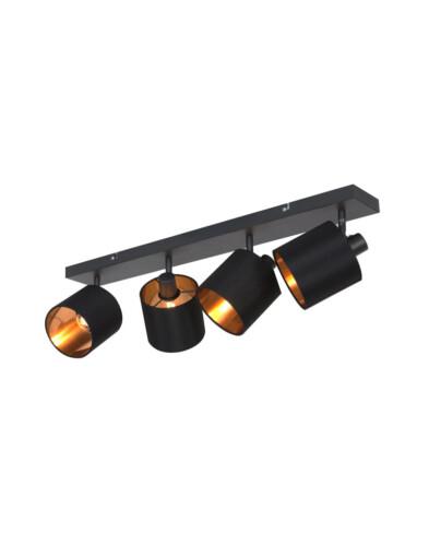 regleta negra de cuatro luces-3188ZW