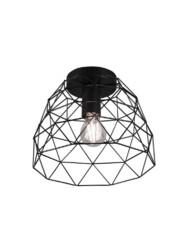 Plafón negro geométrico-3190ZW