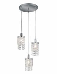 lámpara de techo de cristal tres luces-3195CH