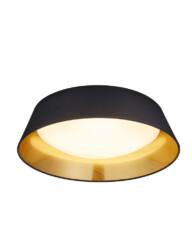 plafon led negro de interior dorado-3202ZW