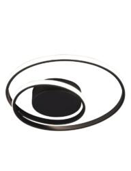 plafon led negro doble anillo-3213ZW