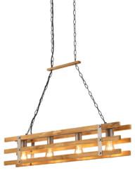 Lámpara de techo industrial con madera-3156ST