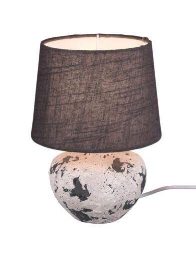Lámpara de mesa jarrón gris-3211GR