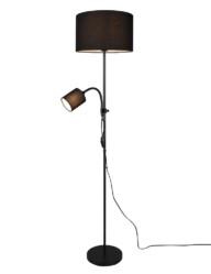 Lámpara de pie con pantalla y foco negro-3221ZW