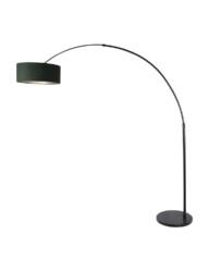 Lámpara de arco negra con pantalla verde-8127ZW
