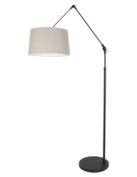 Lámpara de pie negra y beige-8185ZW