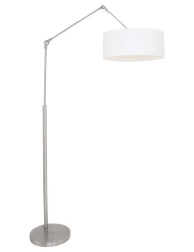 Lámpara de pie con pantalla blanca acero-9894ST