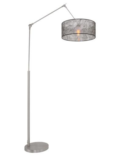 Lámpara de pie articulada de pantalla negra-9896ST