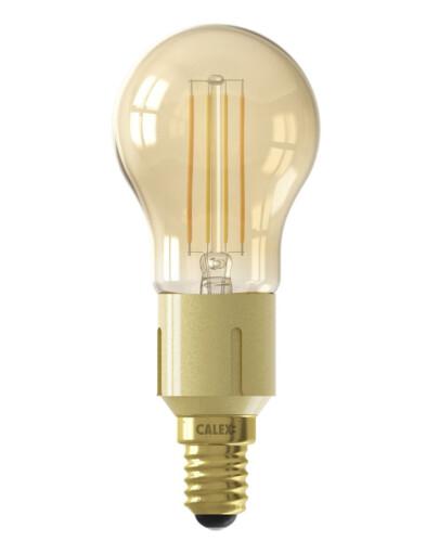 Bombilla inteligente con base dorada E14 4